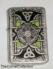 WINDPROOF CELTIC KNOT DESIGN LIGHTER IN NICE GIFT TIN
