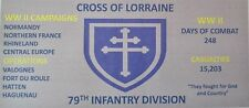 79TH INFANTRY WW II  DIVISION 3'X5' 2PL POLYESTER 1-SIDED INDOOR 4 GROMMET FLAG