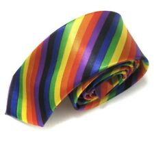 LGBT RAINBOW TIE GAY PRIDE - MARRIAGE / CIVIL CEREMONY  ** UK SELLER **