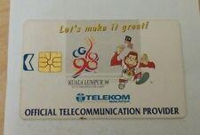 #2 Malaysia Orang Utan Commonwealth Games Phone Card with Sukom 98 Logo 电话卡