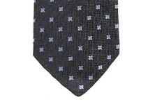 Battisti Tie Charcoal grey with small lavender pattern, pure wool