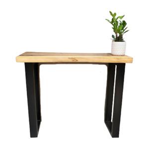 100Cm Bungalow Console Table Live Edge Raintree Wood