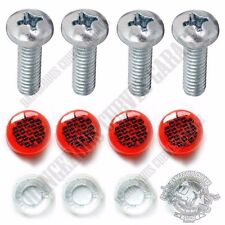4 Red Reflector Windscreen Fairing Screw & Cap Kit For 2015 Harley RoadGlide