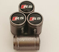 AUDI RS SPORTS Valve Dust caps all Cars GUN METAL GREY RS3 RS4 RS5 RS6 RS7 S5 S3