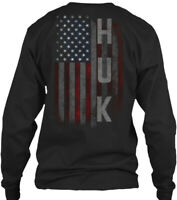 Huk Family American Flag Gildan Long Sleeve Tee T-Shirt