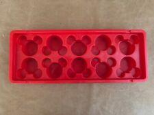 Disney Mickey Mouse Head Red Plastic Ice Cube Jello Tray ears Parks