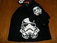 Star Wars Stormtrooper Hat Cap NWT Stocking beanie Skull OSFM + mittens