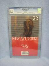 New Avengers #22 (Sep 2006 Marvel) CGC Graded 9.0 Civil War Luke Cage Maria Hill