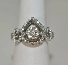 "EXQUISITE WOMENS 14K WG FINE ""G"" DIAMOND RING"