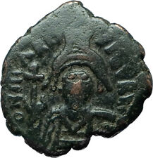 MAURICE TIBERIUS 582AD Constantinople Half Follis Ancient Byzantine Coin i66098