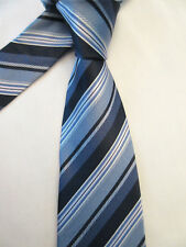 BROOKS BROTHERS BLUE GOLD GREEN 3.75 INCH POLYESTER NECK TIE
