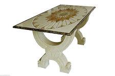 Table incrusté de Marbre Jaune Égypte et Imperador Classic Incrustation