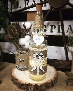 Personalised Light Up Dream Catcher Bottle Gift Xmas Boho