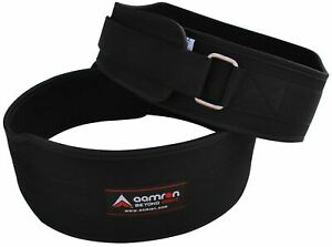 Aamron ® Single Neoprene Belt Lumber Back Support Gym Training Weight Lifting