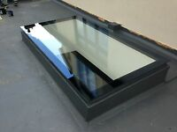 Skylight/Roof Lantern/Glass Flat Rooflight - Triple Glazed - 19 Sizes Clear/Blue
