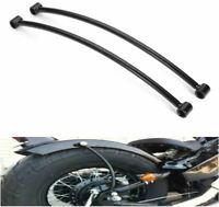 Motorcycle 2x Rear Fender Strut support rail Chop Bobber Hardtail Rigid black