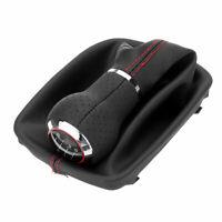 Schaltknauf Schaltsack 6 Gang Rahmen Leder Schwarz für Audi A3 S3 8p A4   **##