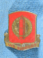 Vintage WWII WE SUPPORT 34 Field Artillery Regiment DUI Insignia Pin