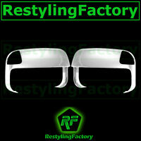 Triple Chrome Top Half Tow Towing Mirror Cover for 10-18 Dodge Ram 1500+2500+350