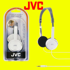 JVC Foldable Flats Light Weight Stereo Headphones - White