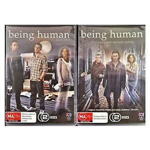 Being Human - Season 1 & 2 (DVD, R4, 4 Discs) ABC - New Sealed
