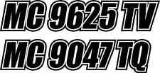 "pinstripe BOAT REGISTRATION NUMBERS 23"" Custom! VINYL Decal Sticker -PICK COLOR!"