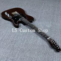 US Stock Tele Electric Guitar Rosewood Veneer Matt Brown Finish Alnico Pickups