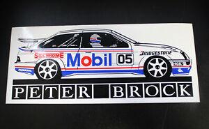 Peter Brock Mobil 05 Ford Sierra Sticker Sidchrome Tools 1990 Memorabilia