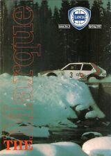 Lancia The Marque Magazine No9 Spring 1987 UK Market Brochure Thema 8.32 Stratos