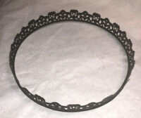 Ornate Vintage Victorian Crown Ring Floral Hanging Lamp Part Metal