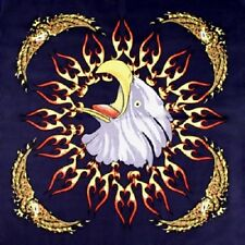 Screaming Eagle with Flames Cotton Bandana Scarf Handkerchief Hanky 22X22 Inch