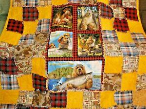 Whimsical Happy Camper Rag Quilt