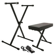 On-Stage Keyboard Piano Synth Stand Bench Sustain Pedal Beginner Starter Pack