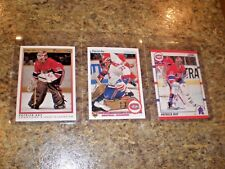 (3) 1990-91 Patrick Roy Upper Deck OPC Premier Score card lot Canadiens HOF