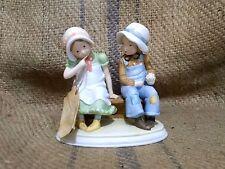 Vintage Holly Hobbie - A Secret  00006000 Shared - Porcelain Figurine with Tag - 1977