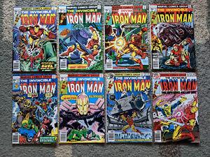 Lot of Eight Iron Man 110-117 Marvel Comics