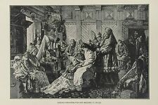 1882 - ENGRAVING EUDOXIA PREPARING FOR HER WEDDING TO PETER (Russian History)