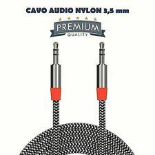 Cavo Audio stereo Premium Jack 3.5mm MASCHIO-MASCHIO Aux 1,5-2-3 metri prolunga