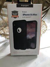 New Spigen Slim Armor Crystal Air Cushion Technology Case - iPhone Xs Max Black