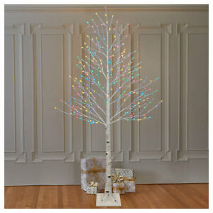 7ft Indoor/Outdoor Fully Lit Birch Twig Tree With 280 LED Lights Multicolour
