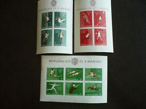 Stamps - San Marino - Scott# 456-465 - Souvenir Sheets