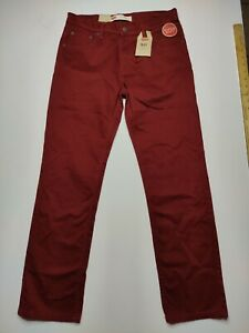 Levi's 511 Slim Fit Super Soft Boys 14 Husky W33 L28 Burgundy Jeans NWT
