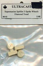 Ultracast 1:48 Supermarine Spitfire 3-Spoke Wheels Diamond Tread #48142