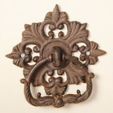 Cast Iron Antique Brown Vintage Victorian Style Ornate Traditional Door Knocker
