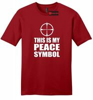 This Is My Peace Symbol Funny Mens Soft T Shirt Gun Rights Hunting Gift Tee Z2