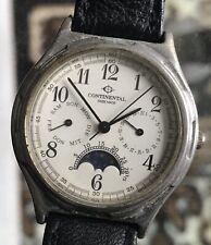 CONTINENTAL MOONPHASE Calendar Midsize Quartz Unisex Men's Gents Swiss Watch