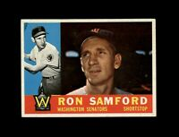 1960 Topps Baseball #409 Ron Samford (Senators) NM