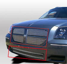 2005-2007 DODGE MAGNUM 6PCS FRONT TOP UPPER+BUMPER LOWER BILLET GRILLE COMBO NEW