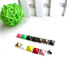 10mm Square Pyramid Studs Rivet Punk Screw Back Leather Craft Clothing Bag Biker