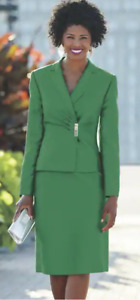 Ashro Green Formal Dress Ravinia Skirt Suit Size 14
